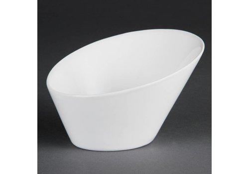 Olympia Weißes Porzellan Oval Bowl 15cm | 4 Stück