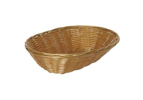 HorecaTraders Oval Table Basket | 23 x 15 x 7 cm (6 pieces)