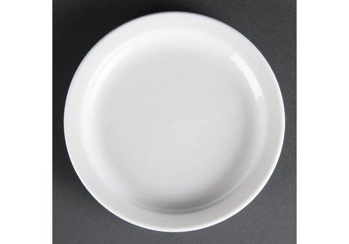Olympia Porselein borden wit 15 cm (Stuks 12)