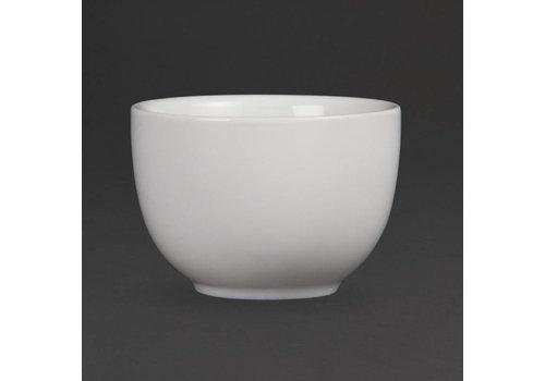 Olympia Chinese Teacup-weiße Porzellan 7 cm (12 Stück)