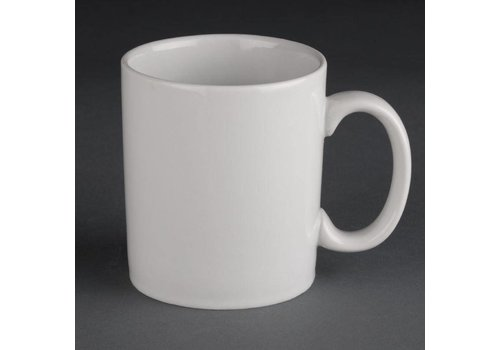 Athena White porcelain mugs | 30cl (12 pieces)