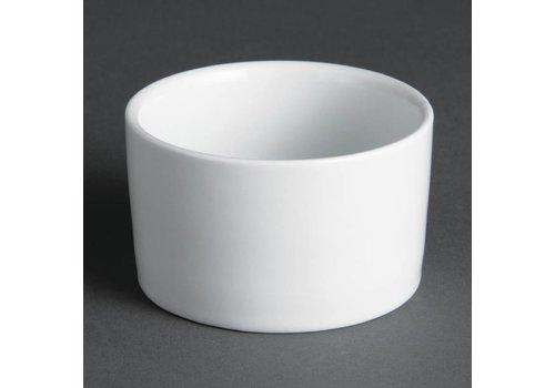 Olympia Rund Souffle Geschirr Weiß 7 cm | 12 Stück