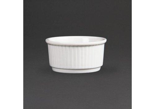 Olympia Stapelbare Witte Porselein Ramekin 8cm | 12 stuks