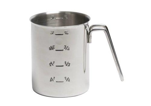 HorecaTraders Messbecher Edelstahl | 1 Liter