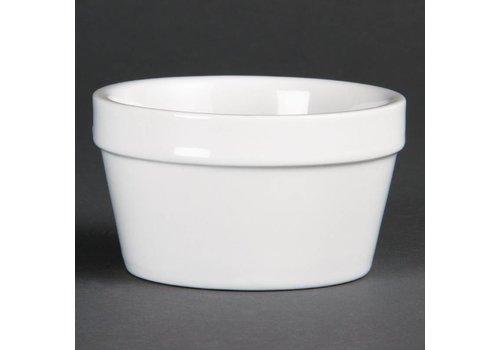 Olympia Weiß stapelbare Porzellanschalen 10cmØ | 6 Stück