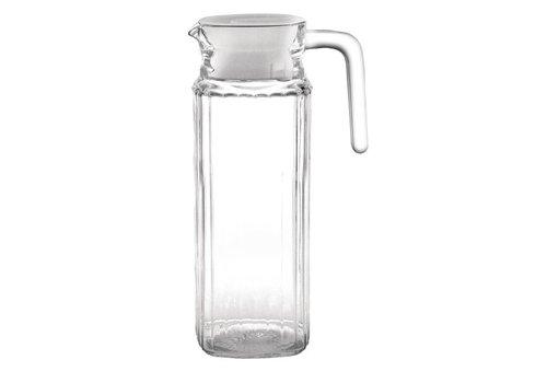 Olympia glazen kan met deksel, 1ltr (Box 6)