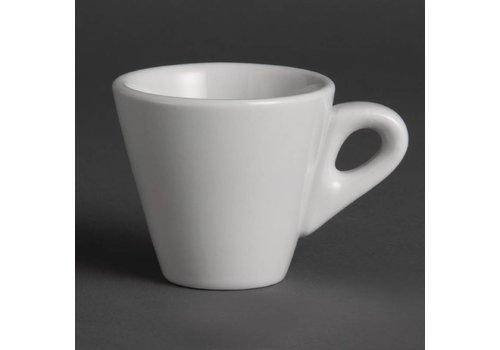 Olympia Weißes Porzellan Tasse Espresso 6 cl | (12 Stück)