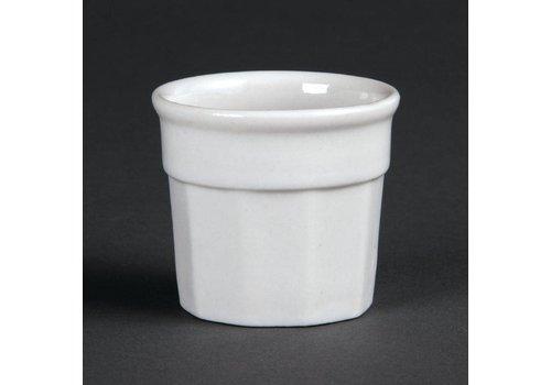 Olympia Weißes Porzellan Sauspot 4,5x5cm | 12 Stück