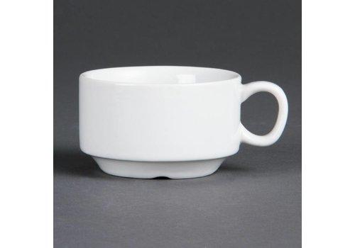 Olympia Witte porselein Espresso koppen 8,5 cl | 12 Stuks