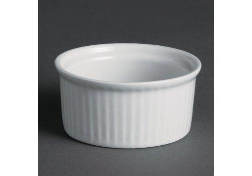 Olympia Kleine Ramekin Weißes Porzellan | 12 Stück