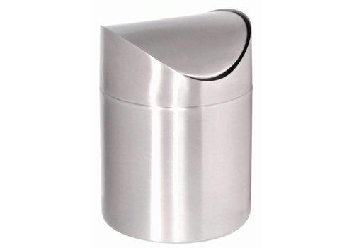 HorecaTraders Abfallbehälter SS 17 (h) x 12 (Ø) cm
