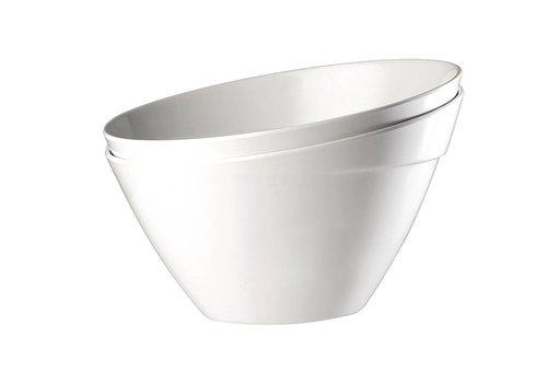 HorecaTraders Weiß Melamin Schale | 3 Größen