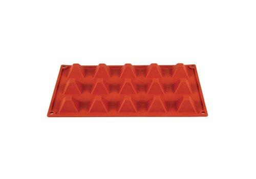HorecaTraders Silikon-Gebäck formen Red | 15 Formulare
