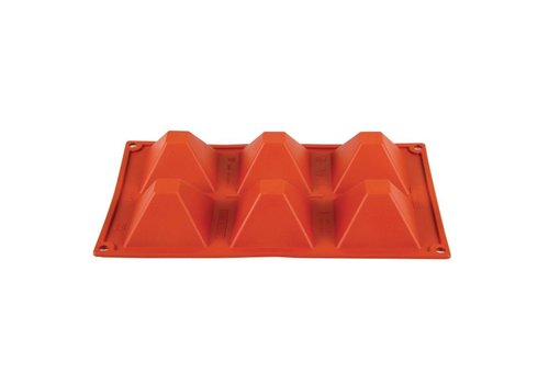 HorecaTraders Formaflex siliconen bakvorm | 6 piramide vormen