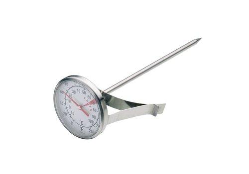 HorecaTraders Hot milk button thermometer, 4.5 cm