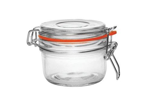 Vogue Glas Einmachglas / Lagertopf mit Bügelverschluss, 0125 l (6 Einheiten)