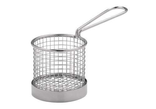HorecaTraders Stainless steel basket with handle | 2 Sizes