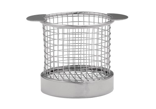 HorecaTraders Stainless steel basket with handles | 2 Sizes