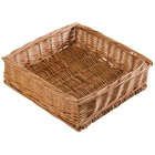 HorecaTraders Square Table Basket | 24 x 24 x 7 cm