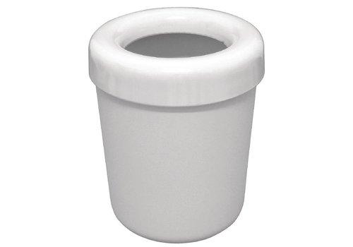 HorecaTraders Melamine afvalbakje wit | 13 cm Ø