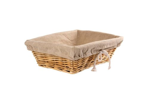 HorecaTraders Bread basket with cover | 9.5 (h) x 31.5 (b) x 23 (d) cm