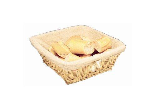 HorecaTraders Breadbasket square with cover | 23 x 23 x 10 cm