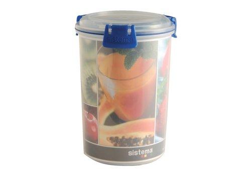 HorecaTraders Runde Nahrungsmittelbehälter (1 Liter)