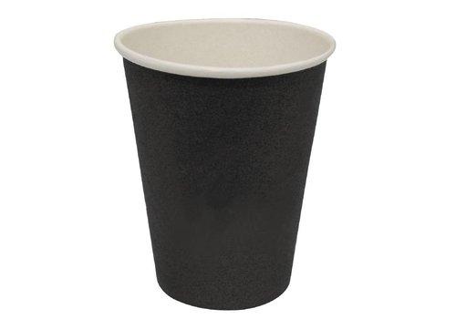 HorecaTraders Koffiebekers Zwart (50 Stuks) | 3 Formaten