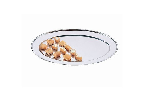 HorecaTraders Oval stainless steel serving plate 11 Formats