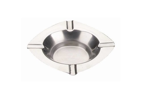 HorecaTraders Stainless steel ashtrays 12.5cm