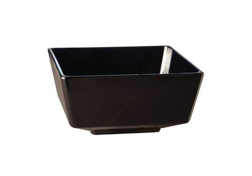 HorecaTraders Melamine vierkante kom zwart | 5 Formaten