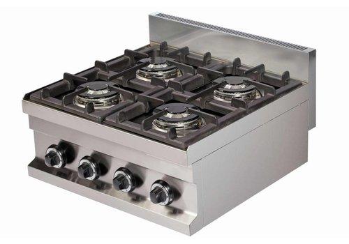 Combisteel Gaskooktoestel tafelmodel | 4-pits