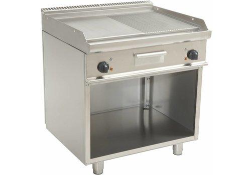 Saro Elektrische Griddle gewelltes / Glatte   80x70x85cm