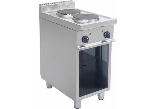 Saro Elektrische Kooktoestel met open onderbouw | 2 platen