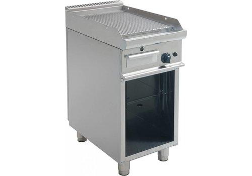 Saro Gas Grillplaat Geribbeld Onderstel | 40x70x85cm