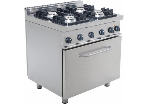 Saro Gasherd mit Backofen Electric | 4 Brenner