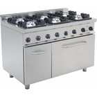Saro Catering Gas oven with 6 burners and electric oven