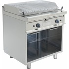 Saro Double Lava Stone grill with Open Frame