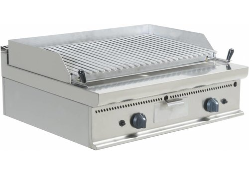 Saro Double Lava Stone grill with gas connection