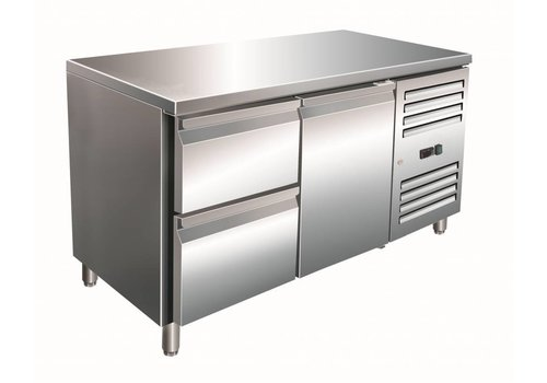 Saro SS Cooling Workbench with 1 door and 2 drawers | 136 x 70 x 89/95 cm