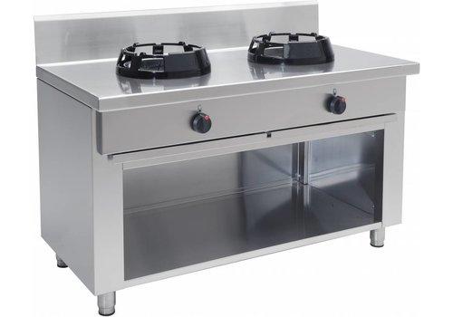 Saro Wok-Gasfornuis Professioneel 2 branders 28 kW