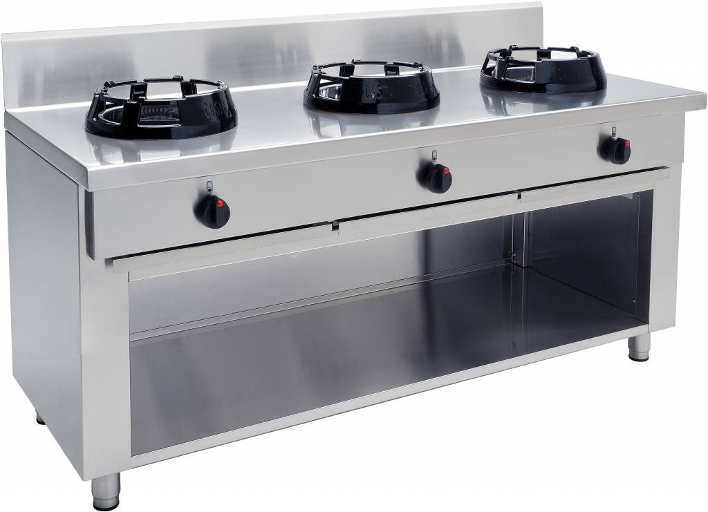 Saro Gas Stove With 3 Burners Wok Professional