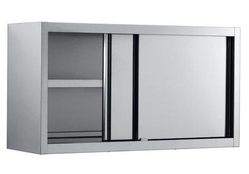 Combisteel Wandkast RVS met schuifdeuren 100x40x65 cm