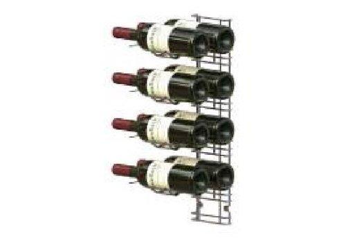 HorecaTraders Wand montiert Weinregal - 8 Flaschen