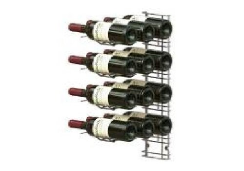 HorecaTraders Wandregal Weinflaschen - 12 Flaschen