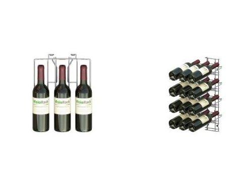 HorecaTraders Wine display rack 12 Bottles - Wall Mounting
