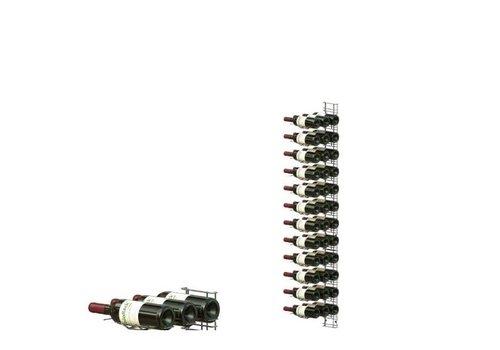 HorecaTraders Wall mounted wine rack 36 bottles