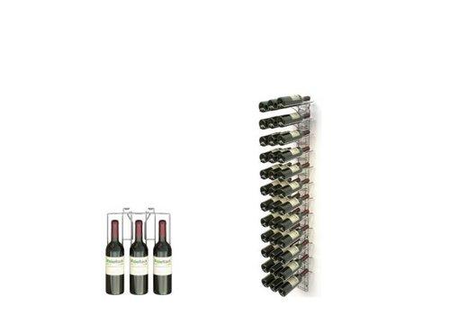 HorecaTraders Wandregal für 36 Flaschen Weinflaschen