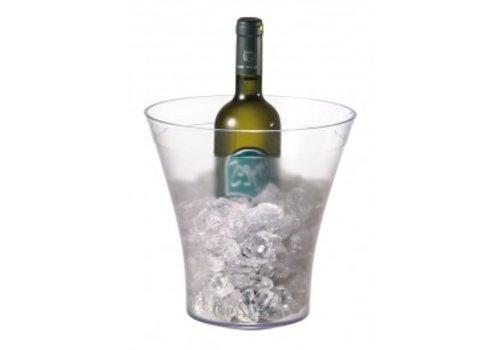 HorecaTraders Weinkühler transparente Plastik