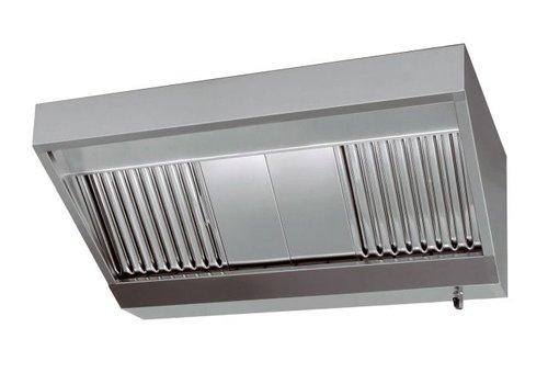 Combisteel RVS Afzuiginstallatie met Afzuigmotor | 120x110x45cm